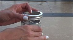 Tealight Air Freshener - Small canning jar with ring and lid or decorative candle holder or used candle jar with lid, washed out; Baking soda; Essential oil, scent of choice; Tealight, optional - Select which jar or candle holder to use. If using a candle holder or candle jar, select one that is not too large, not much more than pint size and taller than it is wide.