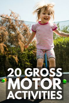20 Gross Motor Activities for Kids | Whether you're looking for fun games, exercises, or an obstacle course to help develop your child's large muscles, or need more specific ideas for kids with autism and other special needs as part of their occupational therapy program, these indoor and outdoor ideas can be re-created with simple things like painters tape, chalk, pillows, balloons, and an exercise ball.