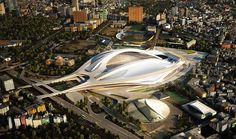 zaha hadid to design new national stadium japan   designboom