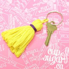 Simple steps to create a perfect keychain tassel. #DIY