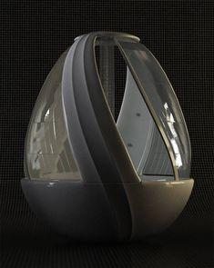 Cocoon Egg Shower: Concepto de Ducha Futurista
