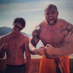 """When Oberyn and The Mountain were best buddies IRL. 