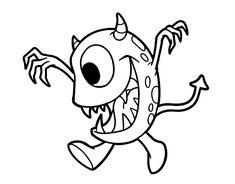15 mejores imágenes de Dibujos de Monstruos para colorear | Online