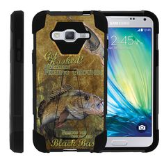 Samsung Galaxy J3, J310 SHOCK FUSION Dual Layer Kickstand Case - Big Game Bass