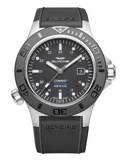 GLYCINE Combat Sub Aquarius http://nuevosrelojes.com/hombre/novedades-2016-de-glycine-combat-sub-aquarius-airman-fighter/