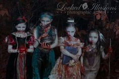 Locked Illusions Photography Disney princess photoshoot. Zombies! Girls after my own heart.