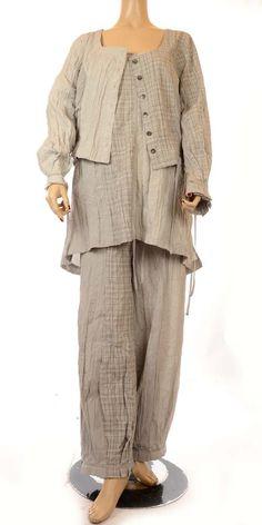 Hebbeding Grey Combi Check & Stripe Tunic RRP £125.00-Hebbeding, lagenlook, plus size tunics, plus size tops, womens plus size fashion, ladies lagenlook plus size fashion