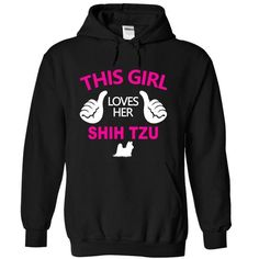 This Girl Loves Her Shih Tzu T Shirts, Hoodies. Check price ==► https://www.sunfrog.com/Pets/This-Girl-Loves-Her-Shih-Tzu-iwnyp-Black-15097764-Hoodie.html?41382