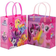 """Little Pony 12 Authentic Licensed Party Favor Reusable Goodie Medium Gift Bags 8"""" - Walmart.com My Little Pony Birthday Party, Birthday Bag, 3rd Birthday Parties, Birthday Party Favors, Goodie Bags, Gift Bags, Favor Bags, My Little Pony Characters, My Little Pony Pictures"""
