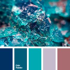 Cold ice with hints of melted water, bright turquoise and cyclamen with a gray silk. What could it be? Clothes in casual style for young and active person,