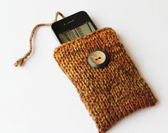 Hazelnut Brown iPhone Sock or iPod Touch Case for by StripyKite