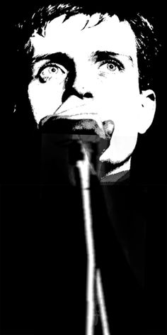 Joy Divisions Ian Curtis by John Bowie.