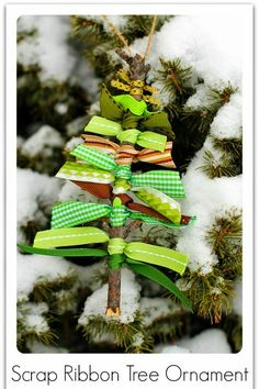 Scrap Ribbon Tree Ornaments ~ Only Deco