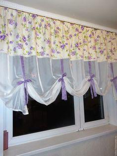 """Купить Шторы """"Лето в декабре"""" - комбинированный, шторы для кухни, шторы на кухню, шторы для детской"""