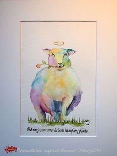 """No. 012 der wandklex-Unikatserie """"Ich war schon immer das Bunte Schaf der Familie"""" - nummerierte Einzelstücke! Ihr eigenes Schaf können Sie als Ihr Designerstück von wandklex® Ingrid Heuser, Ratzeburg, Germany bestellen:  im kleinen Klexshop bei DaWanda auf http://de.dawanda.com/shop/wandklex ©  Kunstatelier wandklex Ingrid Heuser, D-Ratzeburg Besuchen Sie mich auch auf facebook: https://www.facebook.com/wandklex"""