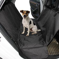 """Dog Car Seat Covers For Car SUV Trunk Hammock Style Dog Cover Machine Washable Non Slip And Waterproof  1.Dog Car Seat Covers with both sides flaps,enhanced nonslip design, the nonslip backing and multiple secure straps keep the pet seat cover in place even on leather seats.Built-in Velcro Openings for your Seatbelts. Unique bottom material securely grips seats, no sliding or bunching.  2.Safe and clean:Totally waterproof, our 54""""x58"""" dog seat covers help defend your car, truck or SUV ..."""