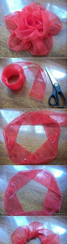 diy, diy projects, diy craft, handmade, diy ideas, diy ribbon tape flower