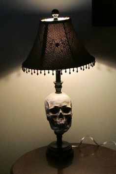 Lamp i made for a hallowwen gift.