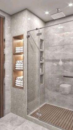 Bathroom Design Luxury, Bathroom Layout, Modern Bathroom Design, Bathroom Shower Designs, Bathroom Shower Remodel, Small Master Bathroom Ideas, Walk In Bathroom Showers, Small Shower Remodel, Master Bathroom Shower