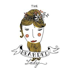 The bearded lady gift card Bearded Lady, Vintage Circus, Hand Illustration, Buisness, Gifts For Women, African, Birds, Crayons, Cannon