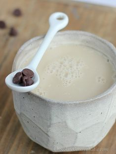chocolate-chip cookie dough latte. http://chocolatecoveredkatie.com/2013/01/21/the-chocolate-chip-cookie-dough-latte/