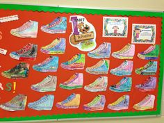"""Habit 1: Be Proactive // """"I take the first step when I...."""" The students brainstorm ways they will be proactive and take the first step, then they complete/decorate a shoe with their idea. (PreK/Kinder)"""