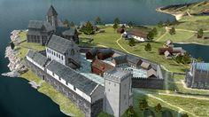 Bergenhus Slott i Bergen i middelalderen.