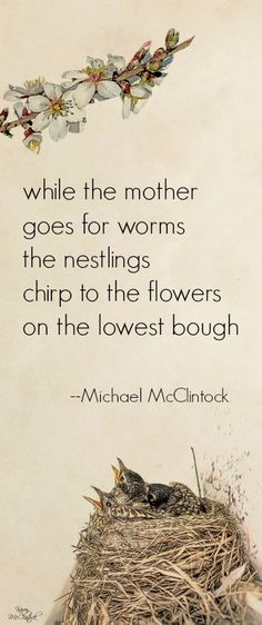 Tanka poem: while the mother -- by Michael McClintock, art by Karen McClintock.