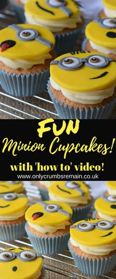How to make fun Minion themed cupcake toppers with fondant
