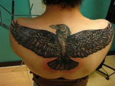 Raven Tattoo on Back - 60  Mysterious Raven Tattoos  <3 <3