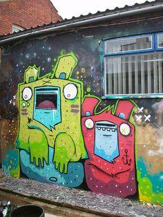 Sweet graffiti characters from Khoi.