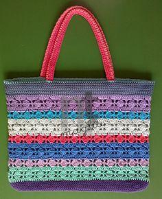 Crochet bag watermark Tutorial ❁•Teresa Restegui http://www.pinterest.com/teretegui/•❁