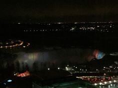 Niagara falls night time