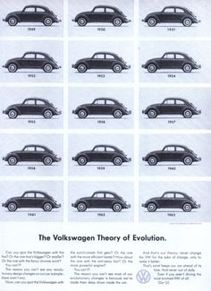 The Volkswagen theory of evolution.