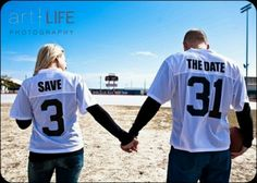 Save the dates. Cute idea for sporty couple.