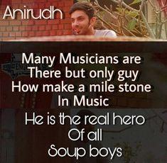 Real Hero, My Hero, Nasu, Self Quotes, My Crush, Music Lovers, Minions, Crushes, Singer
