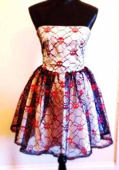 Lace Skull Dress Punk Wedding Dress on Etsy, $149.00