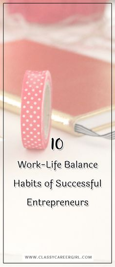 Stressed out? Here are 10 of the best work-life balance habits to implement if you want to be a successful (and happy) entrepreneur. Job Career, Career Advice, Business Inspiration, Business Ideas, Work Family, Secret To Success, Work Life Balance, Working Woman, Helpful Hints