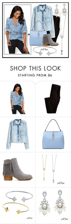 """""""Get The Look"""" by parklanejewelry on Polyvore featuring New York & Company, H&M, denim, parklanejewelry and onthegolook"""