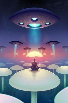 Meditation #ravenectar #visionaryart #art #trippy #psychedelic #sacred