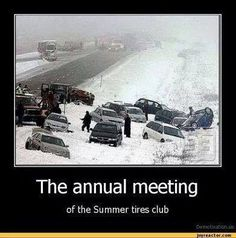 The annual meeting of the Summer Tires Club. So true! R Memes, Funny Memes, Hilarious, It's Funny, Meanwhile In Canada, Annual Meeting, I Laughed, Laughter, Haha
