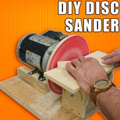 Homemade Disc Sander / How to Make a Disk Sander Homemade Drill Press, Homemade Tools, Baby Led Weaning, Woodworking Videos, Woodworking Shop, Amazing Tools, Metal Bender, Stoff Design, How To Remove Rust