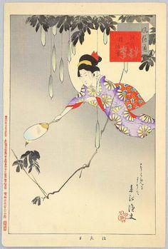 Miyagawa Shuntei Title:Firefly Catching - Yukiyo no Hana Date:1898.