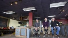 From left, Joe Illes, Sean Pepe and Gary McIntyre are co-owners of The Deadrise, a new restaurant that plans to open at Fort Monroe in the spring. The restaurant will be located on the second floor of the Old Point Comfort Marina building. (Photo by Kaitlin McKeown / Daily Press)