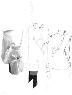 Fashion Sketchbook - fashion design research & shirt sketches; fashion portfolio // Alexandra Baldwin