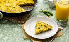 Today's great idea is tomorrow's breakfast! As in, this Vegan Asparagus Snap Pea Frittata.