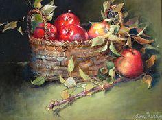 Honeycrisp récolte par Ann Hardy Oil ~ 18 x 24Honeycrisp récolte Huile sur toile de lin belge à bord 18 x 24 x 2 1,650.00 $ USD Vendu