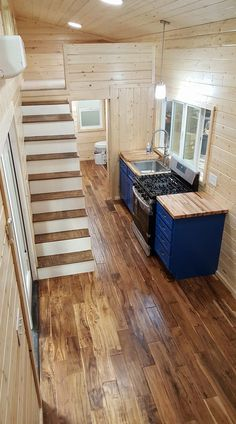 This is a 28′ gooseneck trailer tiny house on wheels. It was just built by Alpine Tiny Homes and was recently delivered to a customer. Enjoy! Related: The Beautiful Teton Tiny House 28′…