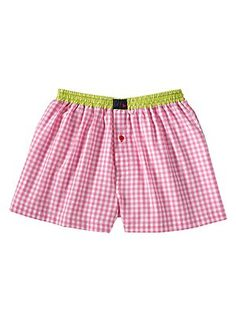 kip pink plaid boxer shorts