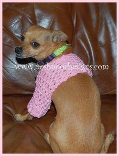Small Dog Shrug by Sara Sach from Posh Pooch Designs - Crochet Pattern Bonanza Crochet Shrug Pattern, Dog Pattern, Crochet Patterns, Web Patterns, Knitting Patterns, Pet Sweaters, Pet Day, Free Crochet, Dog Crochet